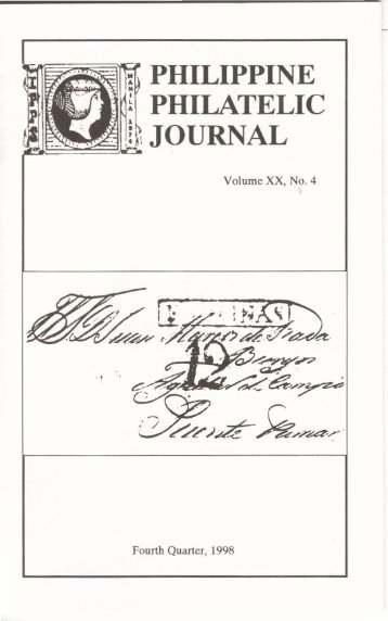 Fourth Quarter 1998 - International Philippine Philatelic Society