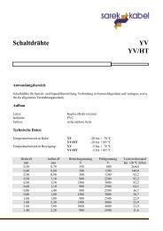 Schaltdrähte YV YV/HT