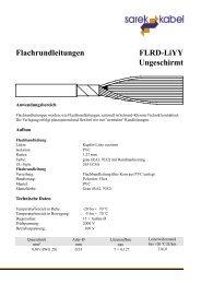 Flachrundleitungen FLRD-LiYY Ungeschirmt