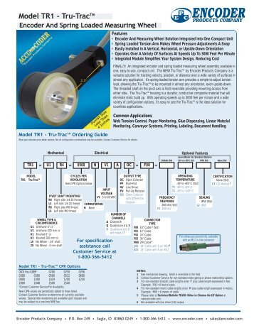 Model TR1 - Tru-TracTM - Adcon Engineering Co