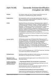 AdA FA-M5: Generelle Anbieteridentifikation (Vorgaben ... - Moduqua