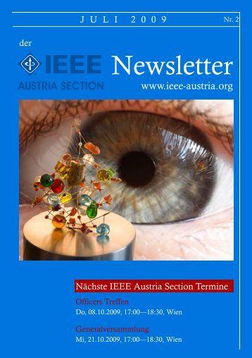 IEEE Newsletter 2009 (1. Halbjahr) 977kB PDF - IEEE Austria ...