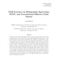 TASI Lectures on Holographic Space-time, SUSY, and - Physics ...