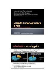 Strategic Analysis of Urban/Peri-urban Agriculture in Asia