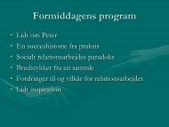 Formiddagens program - Socialt udsatte grønlændere