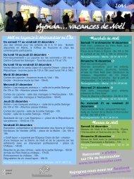 Agenda... vacances de Noël - Udotsi