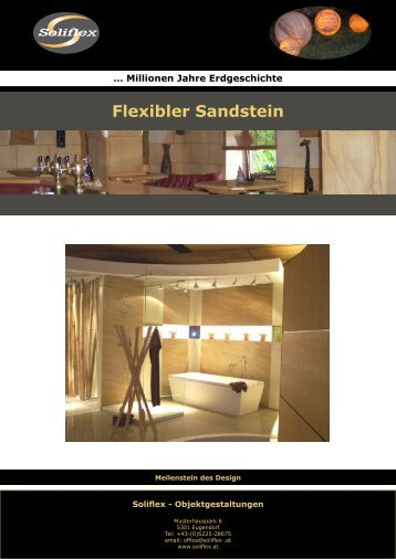 Flexibler Sandstein - Solistone.eu
