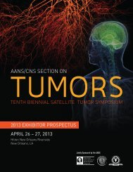 aans/cns section on - American Association of Neurological Surgeons