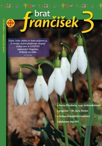 Urednikova beseda bf 3/2011 - Frančiškani v Sloveniji