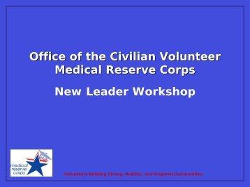 MRC New Leader Workshop - The 2012 Integrated Medical, Public ...