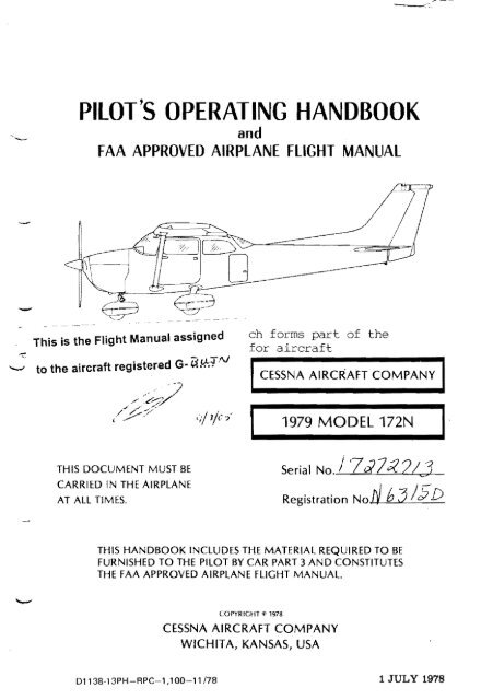 Pilot S Operating Handbook G BUJN Take Flight Aviation