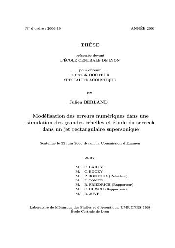 TH`ESE Modélisation des erreurs numériques dans une simulation ...