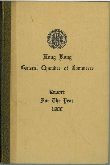 1900 - The Hong Kong General Chamber of Commerce