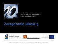 Zarządzanie jakością - Kierunki zamawiane - Politechnika Wrocławska