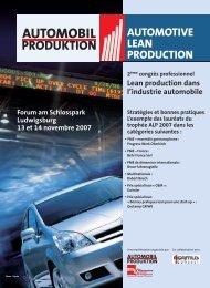 Lean production dans l'industrie automobile