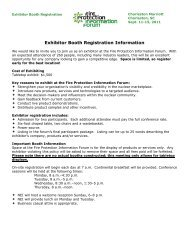 Exhibitor Booth Registration Information - Nuclear Energy Institute