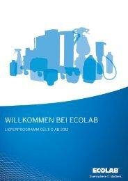 Lieferprogramm Institutional ab 2012