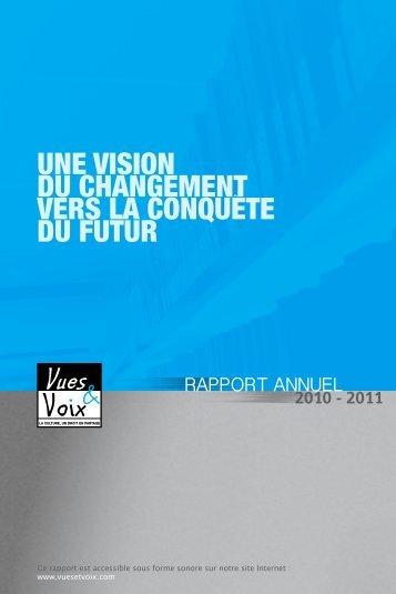 UNE VISION DU CHANGEMENT VERS LA ... - Vues et Voix