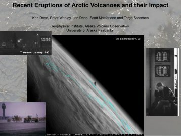 Recent Eruptions of Arctic Volcanoes and their Impact
