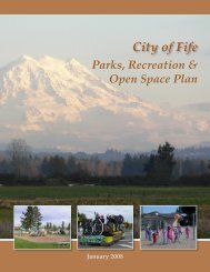 City of Fife Parks & Recreation Open Space Plan (2008)