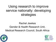 Developing Strategies - Sexual Violence Research Initiative
