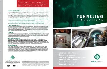 Tunneling Solutions - Euclid Chemical Co