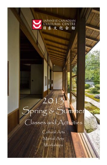 Spring & Summer - Japanese Canadian Cultural Centre
