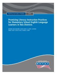 Promising Literacy Instruction Practices for Elementary School ...