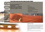 Hallen-Preise Sommer - Tennis Club Flawil