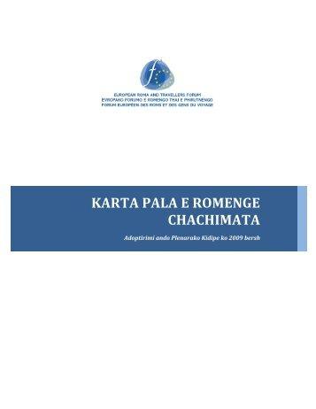 KARTA PALA E ROMENGE CHACHIMATA