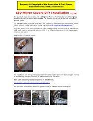 LED Mirror Covers DIY Installation (by Jalal) - Australian Nissan X ...