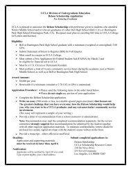Delson Scholarship - Division of Undergraduate Education - UCLA