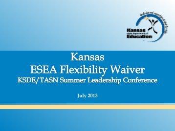 Kansas ESEA Flexibility Waiver - TASN