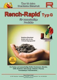Rench-Rapid Typ G - Rench Chemie GmbH