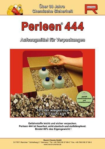Perleen 444 Aufsaugmittel für Verpackungen - Rench Chemie GmbH