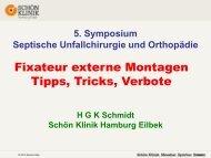 Fixateur externe Montagen Tipps, Tricks, Verbote - Septische ...