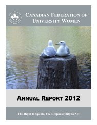 ANNUAL REPORT 2012 - Canadian Federation of University Women