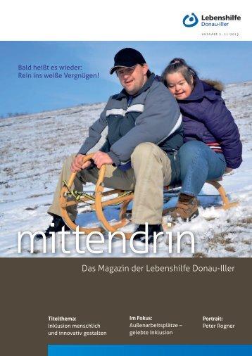 AusgAbe 2 . 11/2013 - Lebenshilfe für geistig und körperlich ...