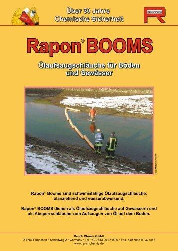 Rapon BOOMS Ölaufsaugschläuche für  Böden und Gewässer
