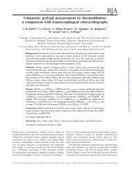Volumetric preload measurement by thermodilution: a comparison ...