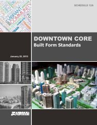 Downtown Core Built Form Standards - City of Mississauga
