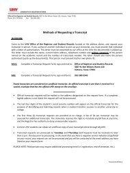 Methods of Requesting a Transcript - University of Houston-Victoria