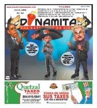 Julio, 2013 Ed. 36 Titulares - Dinamita Magazine