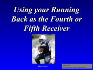 Using your Running Back as the Fourth or Fifth Receiver - Fast and ...