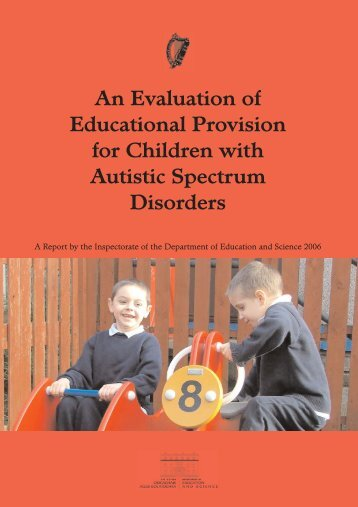 An evaluation of educational provision for children with autistic ...
