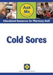 Cold Sores - Pharmacy Guild of New Zealand