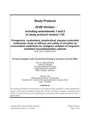Clonidine Study Protocol 1.93 - Klinik und Poliklinik für Kinder- und ...