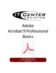 Adobe Acrobat 9 Professional Basics - Academic Health Center ...
