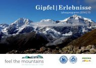 Gipfel|Erlebnisse - feel the mountains