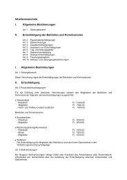 Inhaltsverzeichnis I. Allgemeine Bestimmungen II. Entschädigung ...